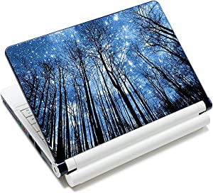 Laptop Stickers Decal,12 13 14 15 15.6 inches Netbook Laptop Skin Sticker Reusable Protector Cover Case for Toshiba Hp Samsung Dell Apple Acer Leonovo Sony Asus Laptop Notebook (Trees & Starry Sky)