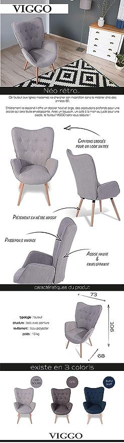 HOMY CASA Living Room Accent Armrest Lounge Chair Velvet Upholstery & Button Tufted -Green (Green-Velvet) (Grey, Fabric)