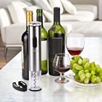 Apribottiglie Elettrico, Kealive Cavatappi Professionale Apribottiglie Vino Con Tagliacapsule Cavatappi Elettrico Senza Batteria Argento