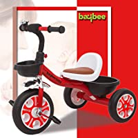 Baybee Breeze Baby Tricycle Kid's Trike Ride on with Storage Space Children Tricycle - Kids Tricycle , tricycles , Kids Cycle|Bicycle Children Tricycle Suitable for Boys & Girls Age 1-5 Years (Red)