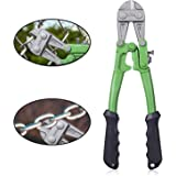 """WilFiks 12"""" Bolt Cutter, Heavy Duty Steel Chrome Alloy Jaws, Compound Cutting Action Sniper To Cut Chain Lock, Cable…"""