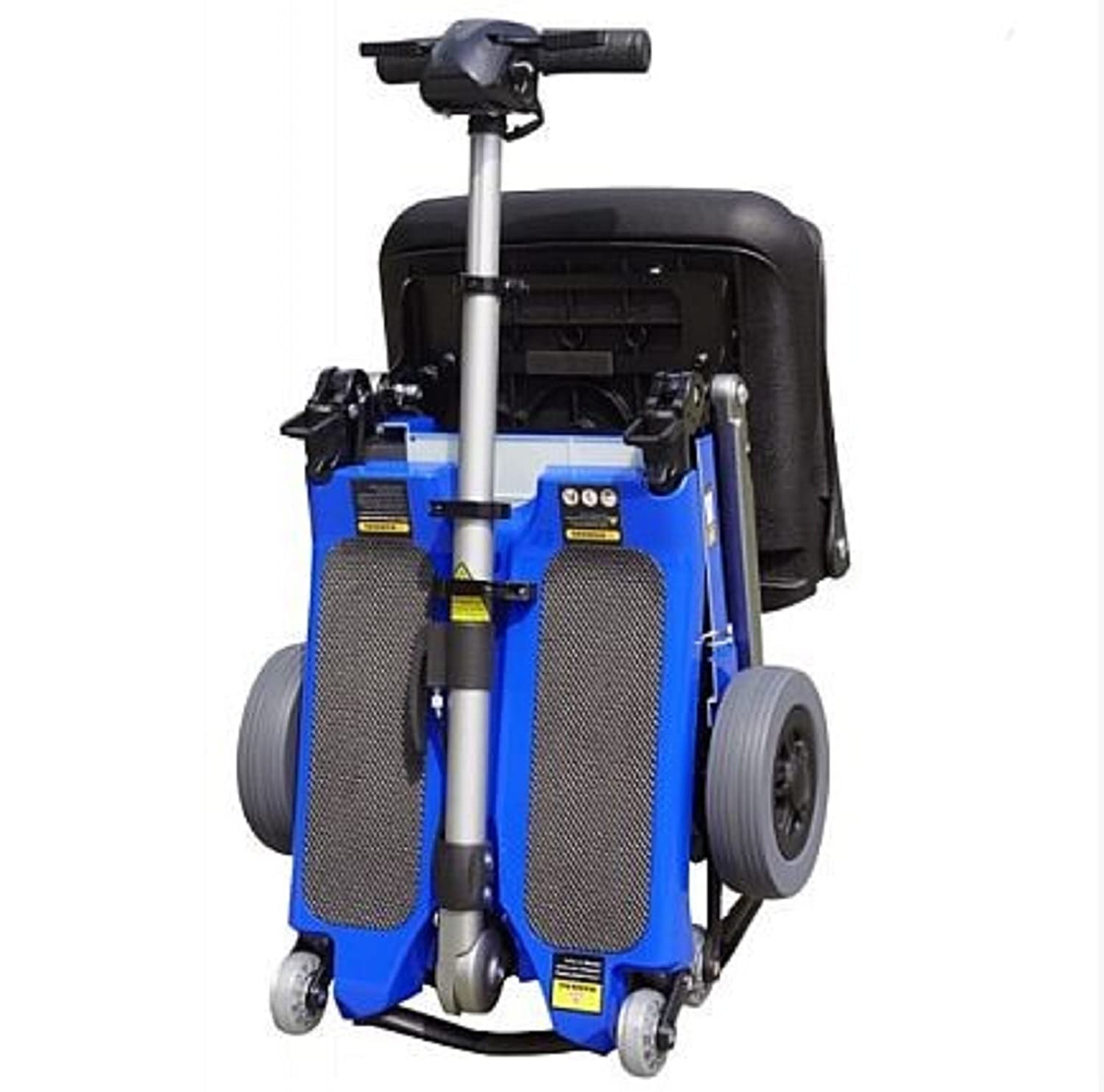 Amazon.com: Free Rider USA - Luggie Elite - Compact Lightweight Foldable Scooter - 4-Wheel - Blue: Health & Personal Care