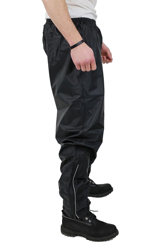 Negro Nerve S-Easy Pantalones Impermeables de Moto XL
