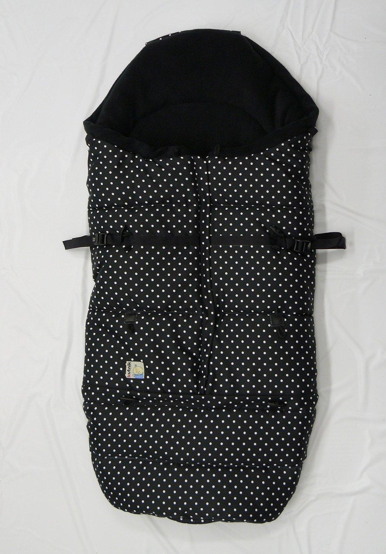 Kutnik Saco de abrigo universal polar para silla de paseo - Negro Puntea & Negro product