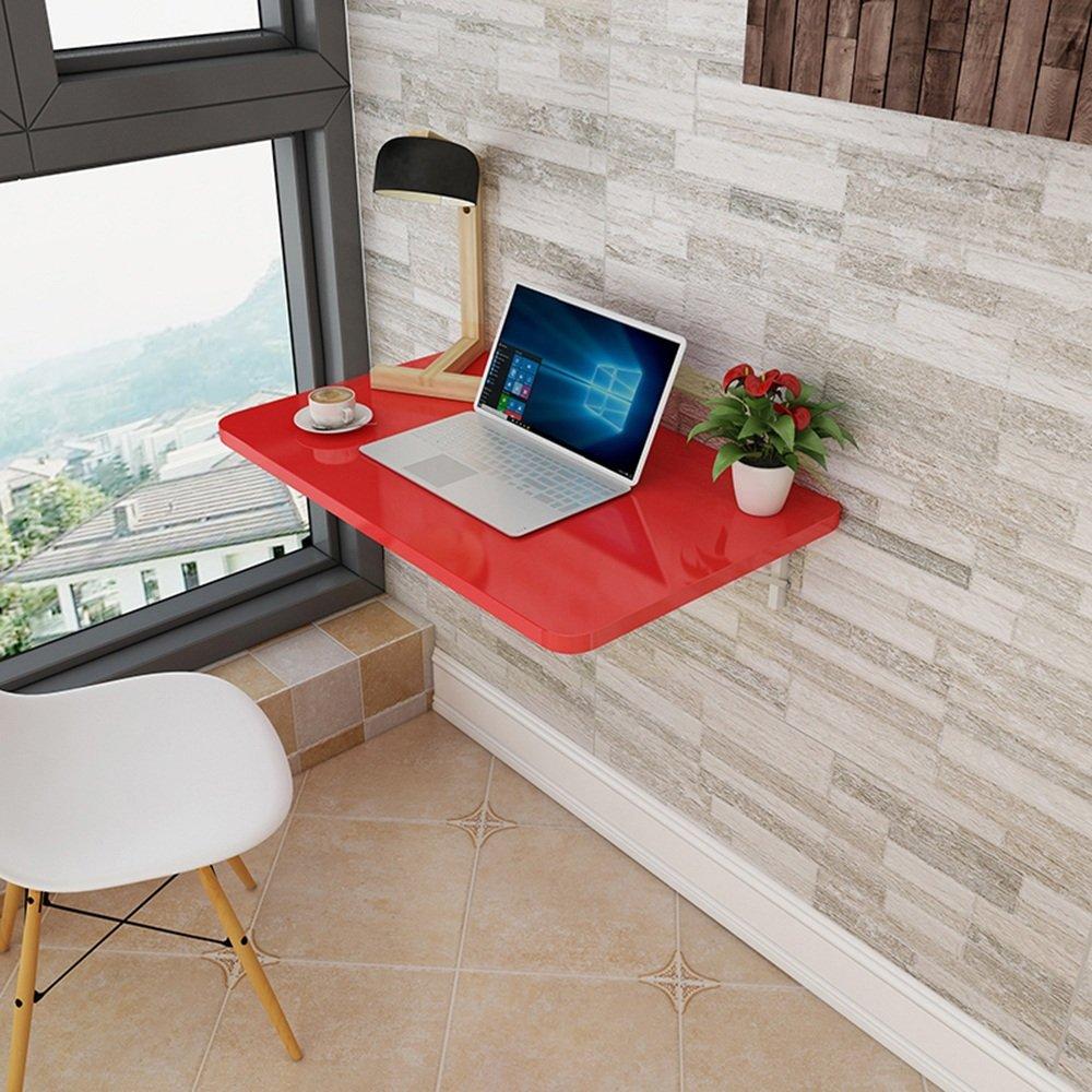 マチョン コンピュータデスク 折りたたみテーブルウォールテーブルダイニングテーブル (色 : Red, サイズ さいず : 100cm*40cm) B07F5ZLKX6 100cm*40cm Red Red 100cm*40cm