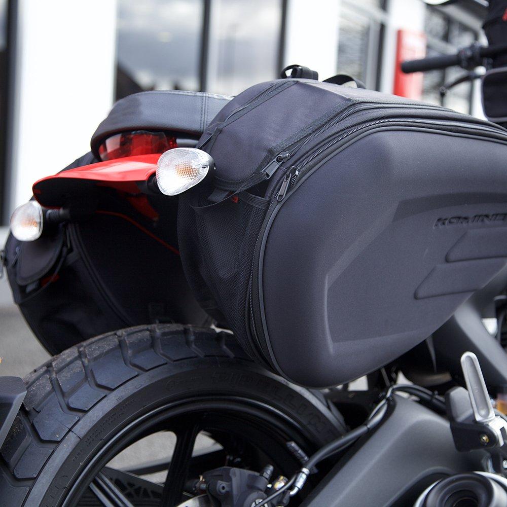 Auto Companion - Alforjas para moto semirrígidas con cubierta impermeable, 1 par: Amazon.es: Coche y moto