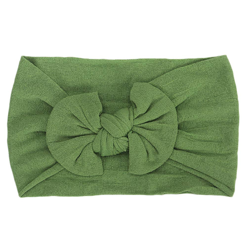 NUWFOR 1Pc Cute Baby Toddler Infant Bowknot Headband Hairband Headwear(Green,Free Size)