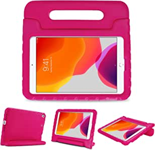 "ProCase Kids Case for 10.2"" iPad 8th Gen 2020 / 7th Gen 2019 / iPad Air 10.5"" (3rd Gen) / iPad Pro 10.5"", Shockproof Convertible Handle Stand Cover Light Weight Kids Friendly Case -Magenta"