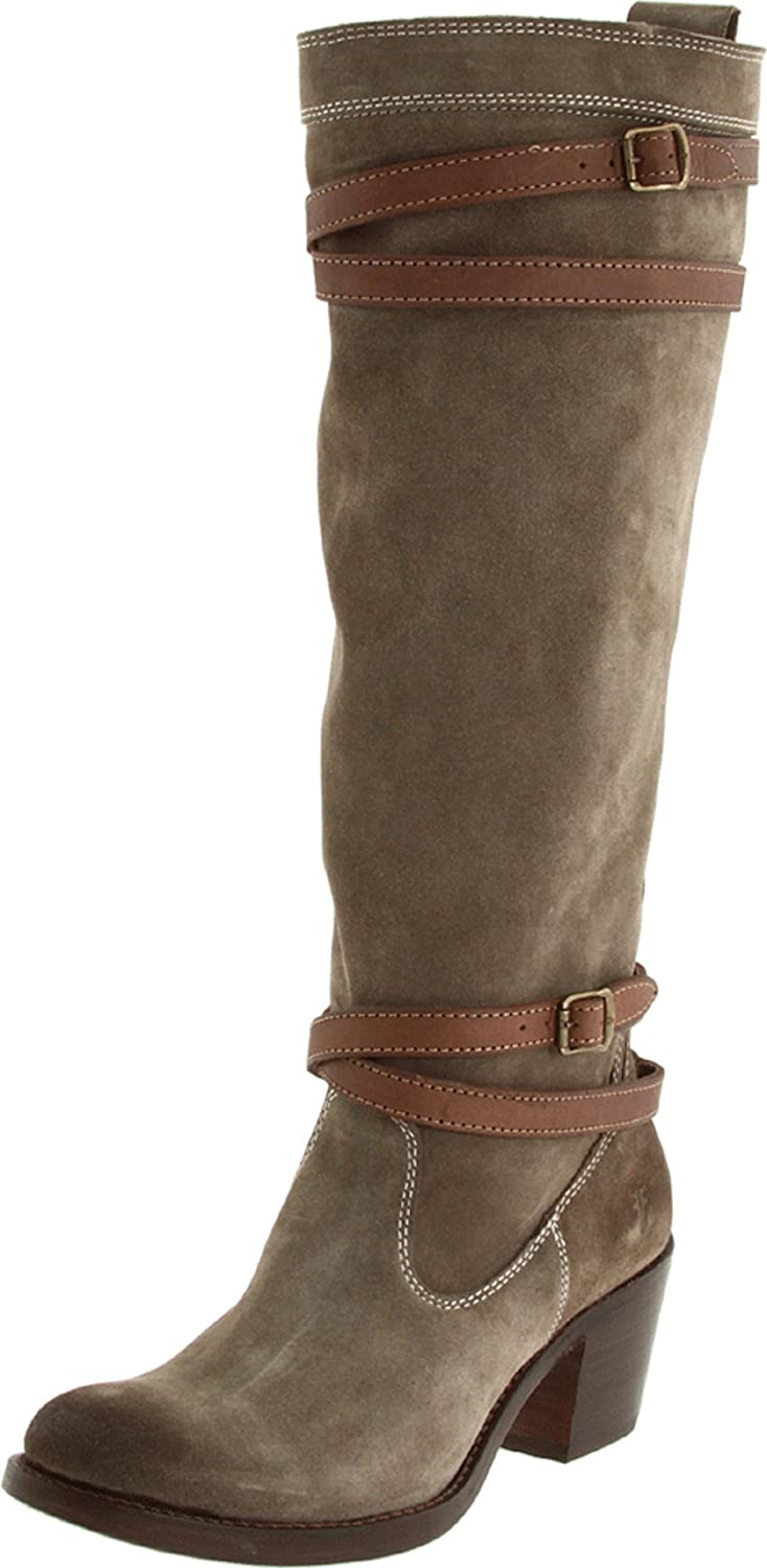 Women's Jane Strappy Brown Oiled Suede Boot
