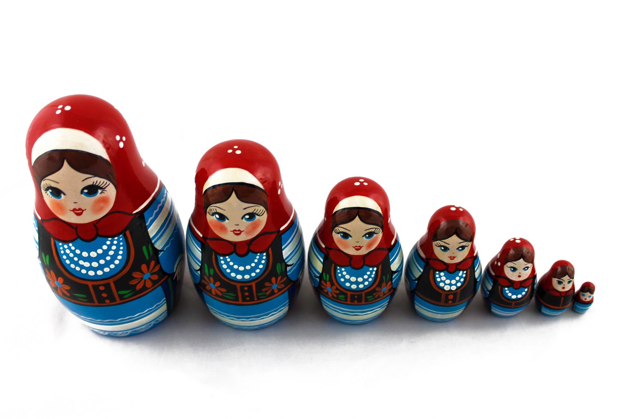 Matryoshka Polish National Dress Babushka Russian Nesting Wooden Stacking Doll 7 Pcs by MATRYOSHKA&HANDICRAFT (Image #4)