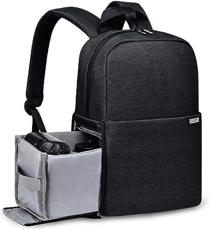 Oferta amazon: CADeN Mochila cámara réflex -Estuche para cámara réflex computadora portátil 14 Estuche Cámara Mochila para Canon Nikon Sony Pentax SLR Lente Accesorios para trípode DSLR(Negro)