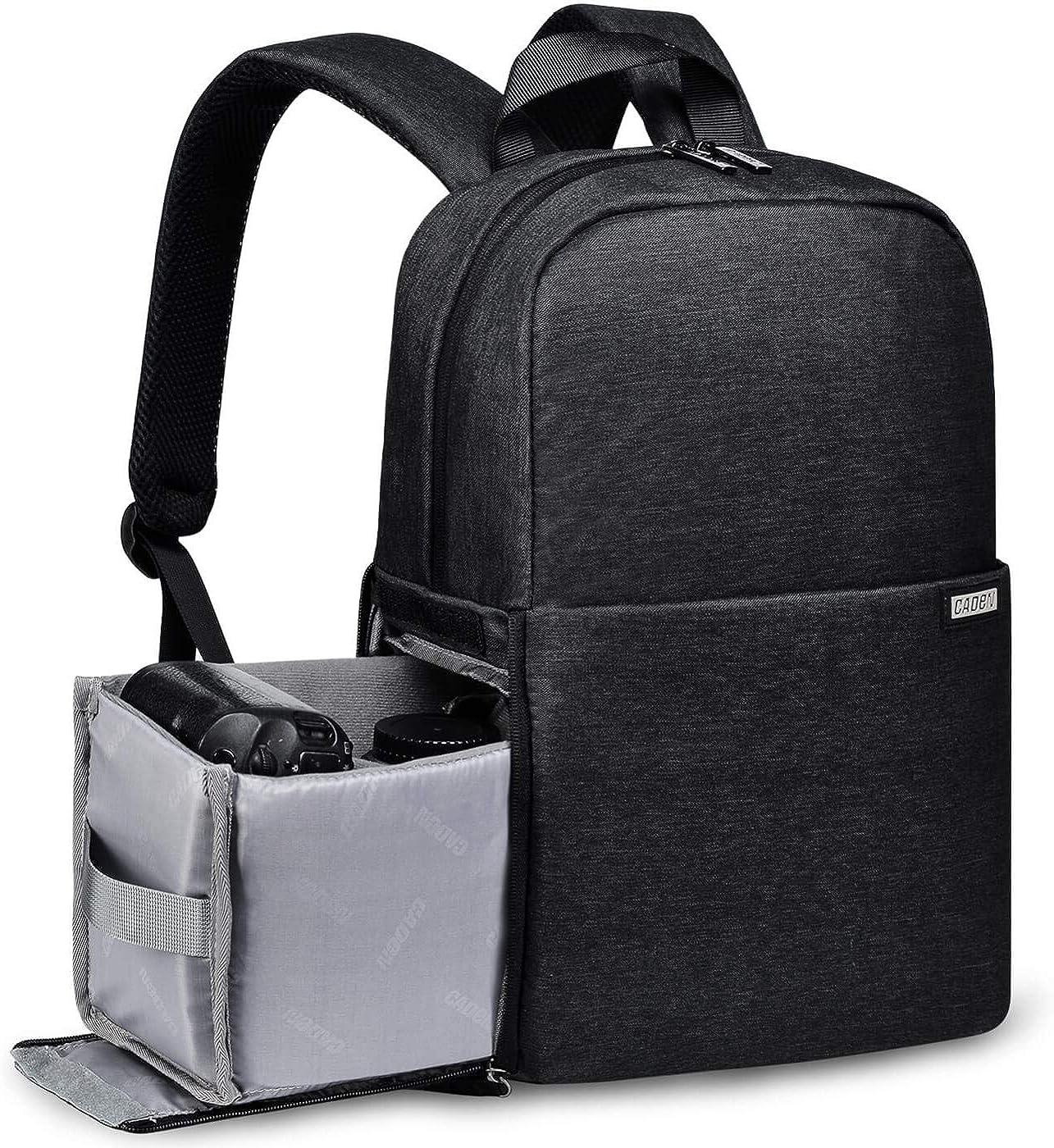 Caden Kamerarucksack Wasserabweisend Kameratasche Dual Use Dslr Bag Diebstahl Fotorucksack Kompatibel Mit Spiegelreflexkamera Canon Nikon Sony Stativ Schwarz Bekleidung