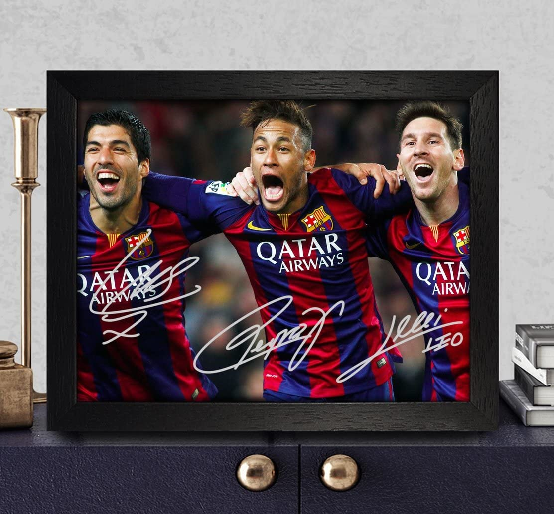 LIONEL MESSI LEO BARCELONA SIGNED POSTER PRINT PHOTO AUTOGRAPH SHIRT GIFT