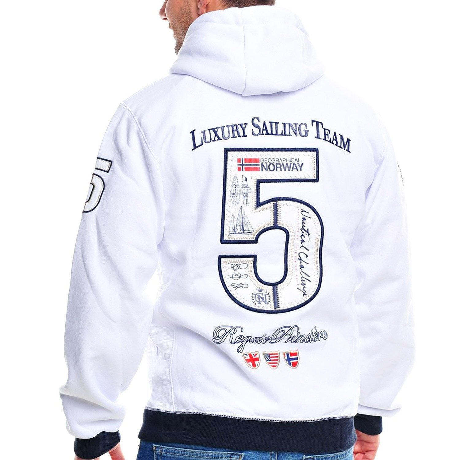 M FLYER GEOGRAPHICAL NORWAY Hombre Dise/ñador Hoodie Capucha Chaqueta