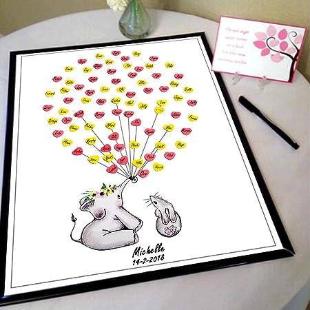 Aytai 3D Elefante Baby Shower Libro de Visitas Libro de ...