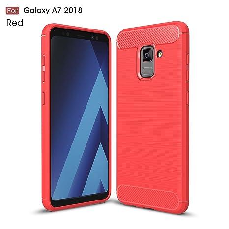 Samsung Galaxy A7 2018 Funda,2ndSpring Carcasa Slim Soft ...