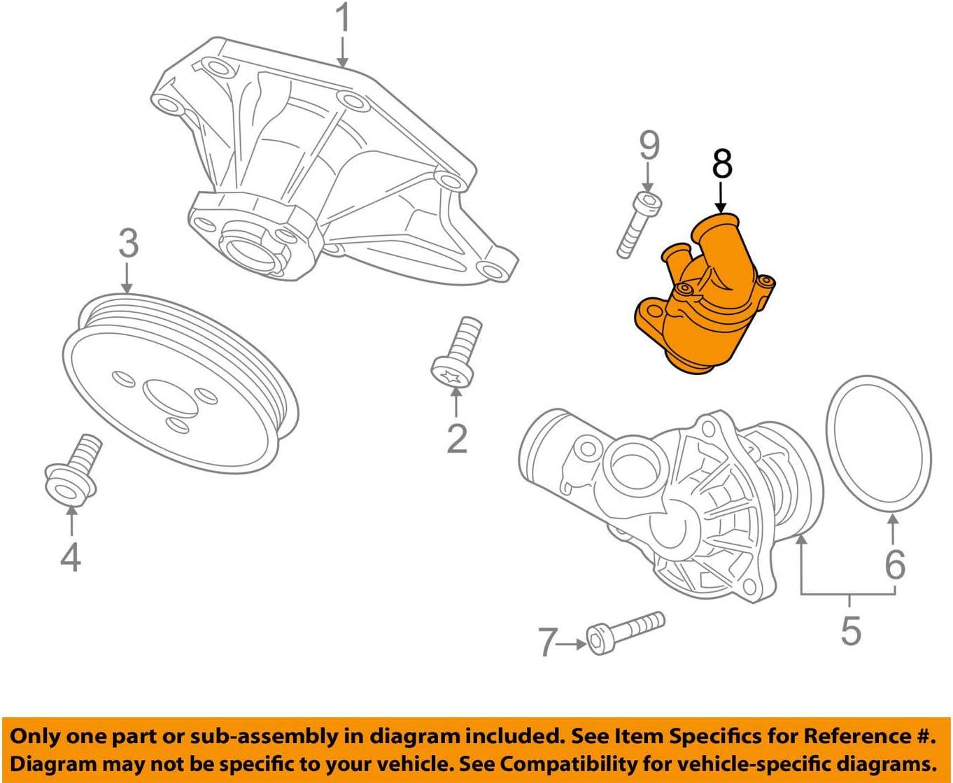 [QNCB_7524]  Amazon.com: Volkswagen VW OEM 11-12 Touareg-Engine Coolant Thermostat  059122111D: Automotive | Vw 1500 Engine Diagram |  | Amazon.com