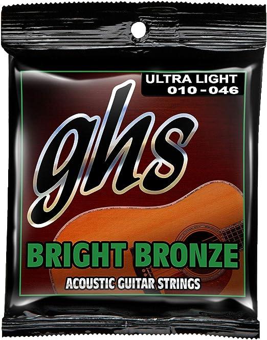 GHS Bright Bronze Acoustic Guitar Saitensatz 80//20 Heavy 014-060Neu