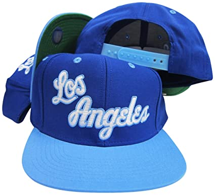 Amazon.com  adidas Los Angeles Lakers Blue Baby Blue Adjustable ... 4b2dfd31697