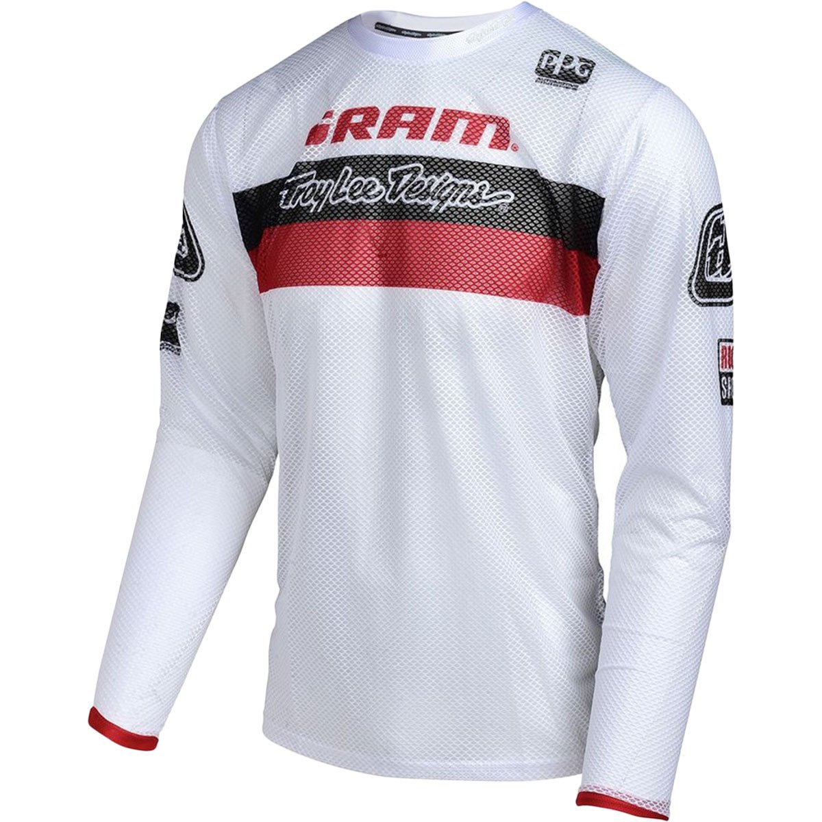 Troy Lee Designs Sprint Air Sram TLD Racing Boy's BMX Racing Jersey - White / Small