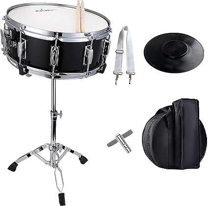 ADM estudiante Snare Drum Set con funda, de incienso, soporte y Pad de práctica, Kit: Amazon.es: Instrumentos musicales