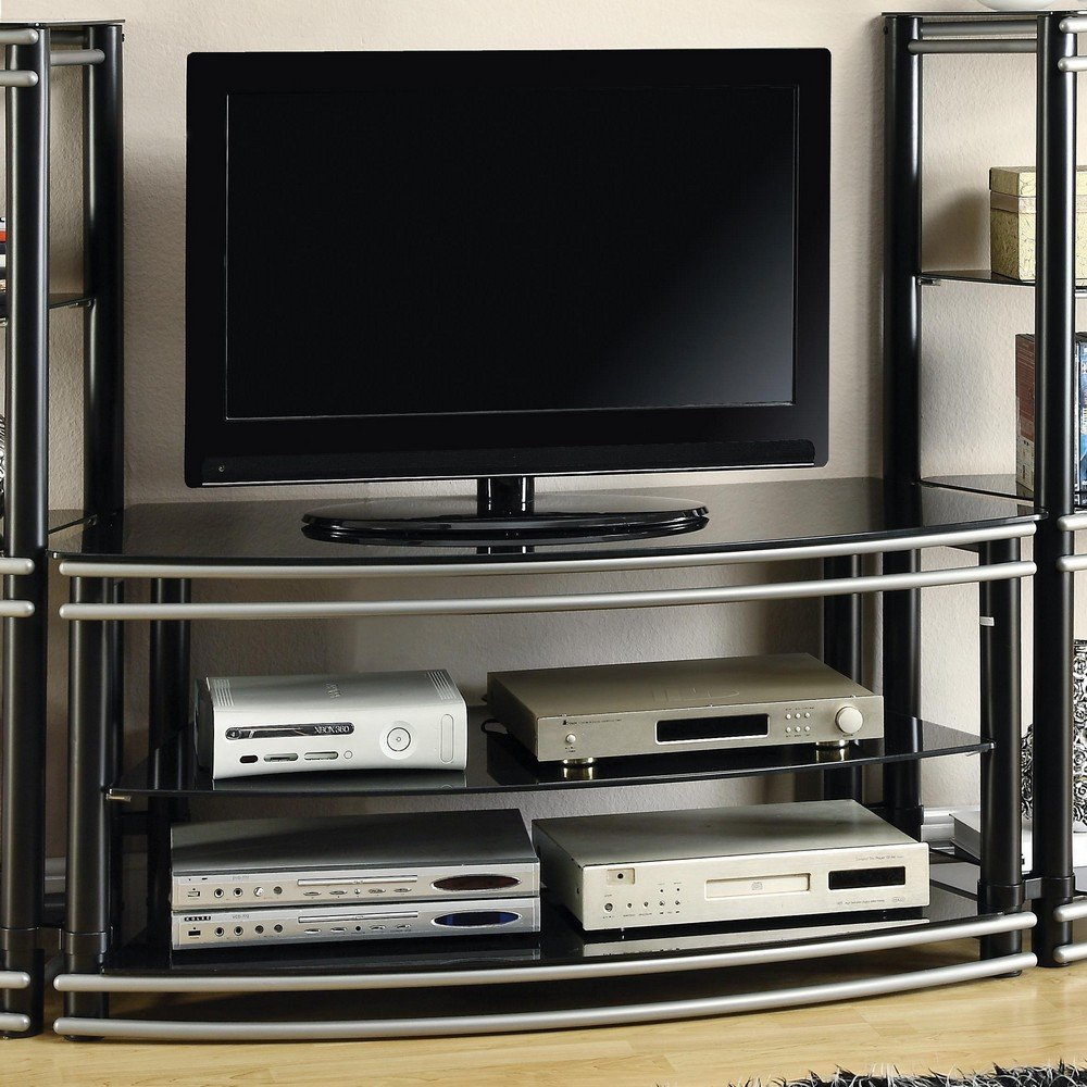black and silver furniture. amazoncom coaster home furnishings 700722 contemporary tv console black kitchen u0026 dining and silver furniture