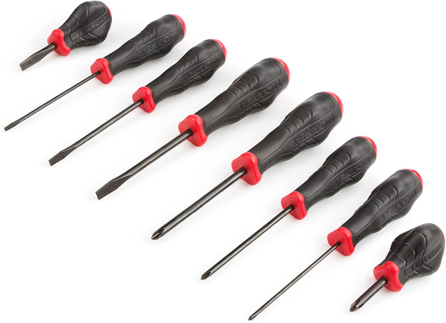 TEKTON 26757 Slotted and Phillips High-Torque Screwdriver Set 12-Pieces