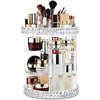 Salandens Organizador de Maquillaje, 360 Grados de rotación Organizador de Maquillaje Caja de Almacenamiento de…