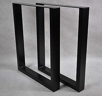 Magnetic Mobel 2x Tischgestell Tischkufen Rohstahl Design