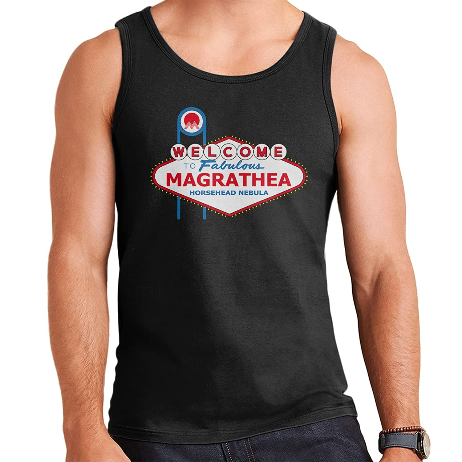 Viva Magrathea Hitchhikers Guide To The Galaxy Men's Vest: Amazon.co.uk:  Clothing