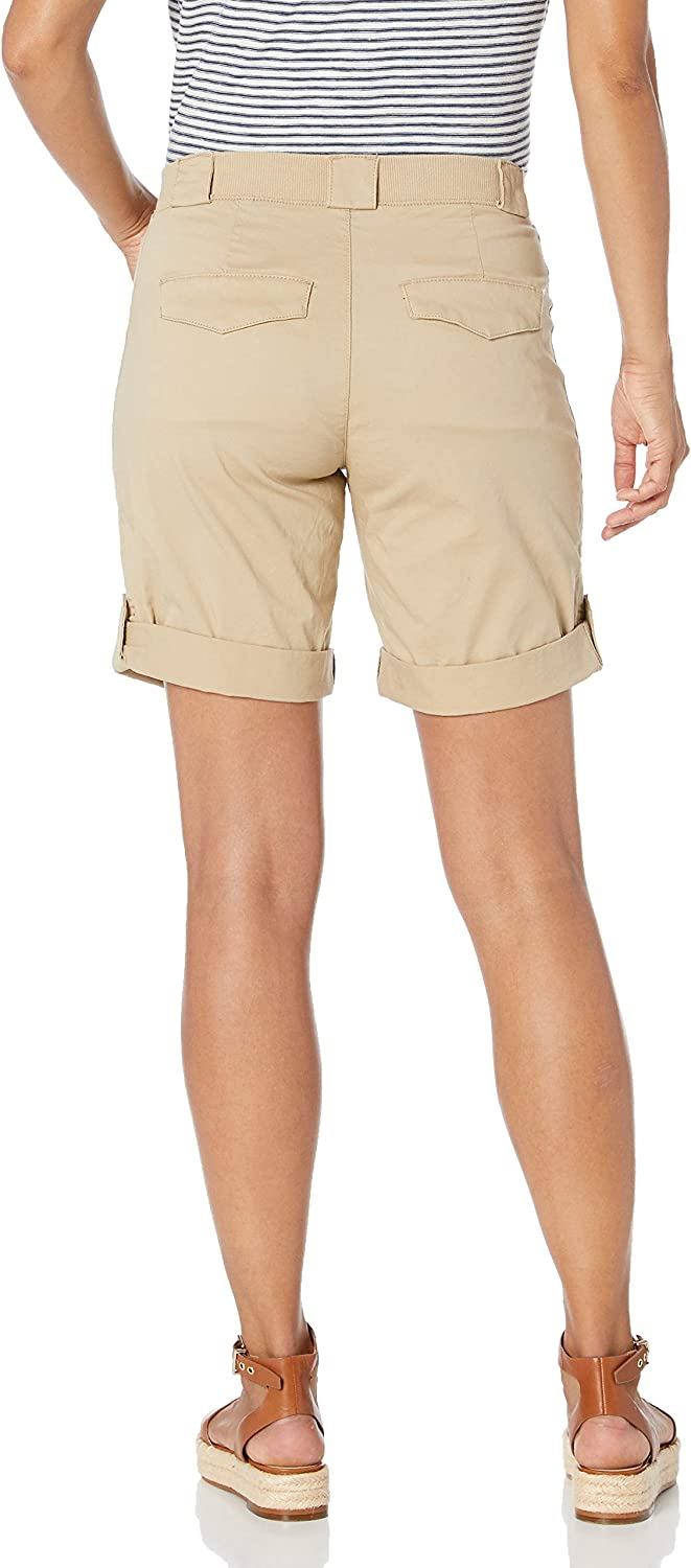 Lee Uniforms Womens Petite Flex-to-go Relaxed Fit Utility Bermuda Short