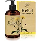 Relief Arnica Massage Oil – Great for Sports & Athletic Therapeutic Massage – All Natural - Arnica Montana for Sore Muscle Re