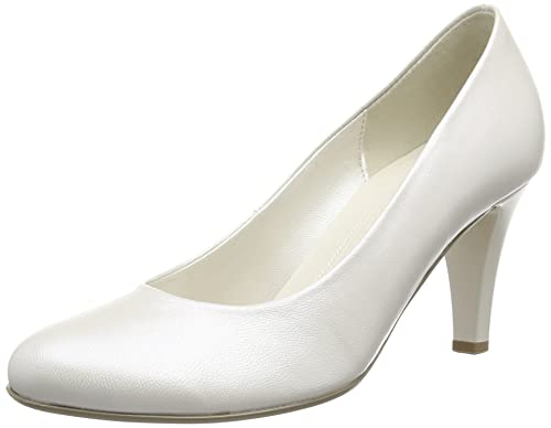 Gabor Lavender L - Zapatos para Mujer, Blanco (Off White Pearlised Leather), 38 EU