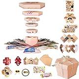 Explosion Gift Box Set Album Scrapbook DIY Photo Album Box for Birthday Anniversary Wedding (Pink) (Color: Pink orange, Tamaño: Pink)