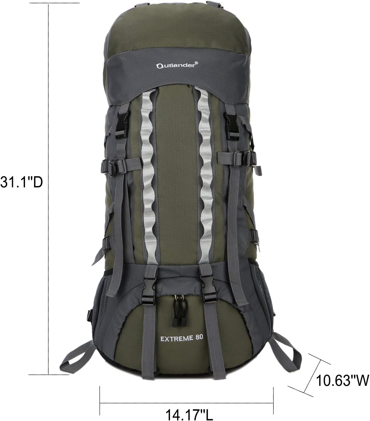 Internal Frame Backpacking Backpack for Hikers Glumes 80L Hiking Backpack Waterproof Lightweight for Women Men Trekking Frame Pack Fit Outdoor Travel Mountaineering Camping