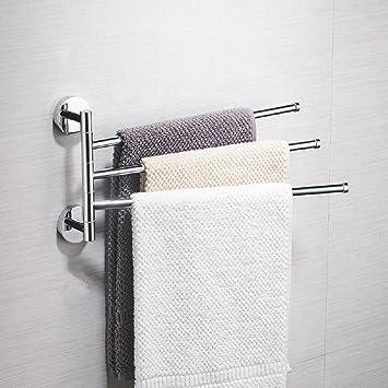 Toallero giratorio toalla de aseo gratuito bar cocina polo doble barra única colgador de toallas de baño: Amazon.es: Hogar