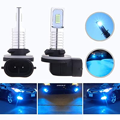 HOCOLO 2x 881 889 862 886 889 894 896 898 LED Bulbs DRL Fog Driving Light Brighting Daytime Running Lamp Replace Halogen 3570 CSP Chips Car Vehicle Parts Plug-N-Play High Power(881_Fog,Ice Blue/8000K): Automotive
