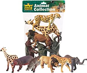 Wild Republic African Animals Polybag, Toy Figurines, Gifts for Gifts, Party Supplies, Sensory Play, Kids Toys, 6 Piece Set
