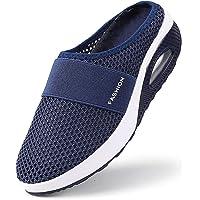 Tênis de caminhada ortopédico para diabéticos, tênis de caminhada feminino, respirável, casual, com almofada de ar…