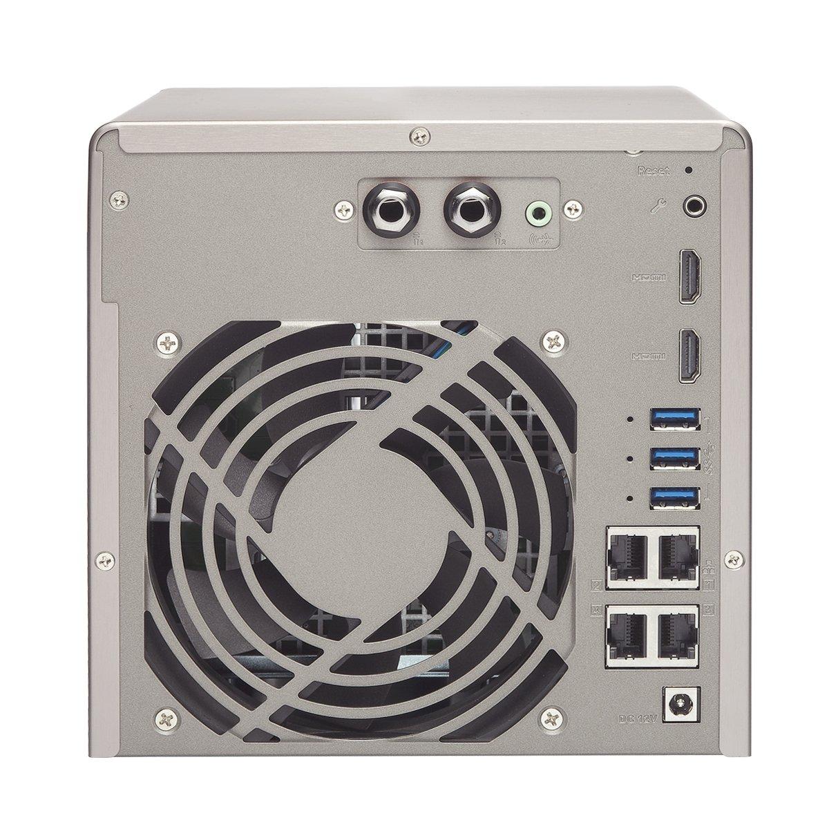 QNAP TS-453A NAS Torre Ethernet Negro - Unidad Raid (Unidad de Disco Duro, SSD, Serial ATA III, 2.5/3.5