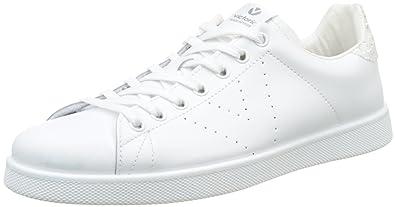 Victoria Deportivo Basket Piel, Sneakers Basses mixte adulte, Blanc  (Blanco), 35 73b82d912ef5