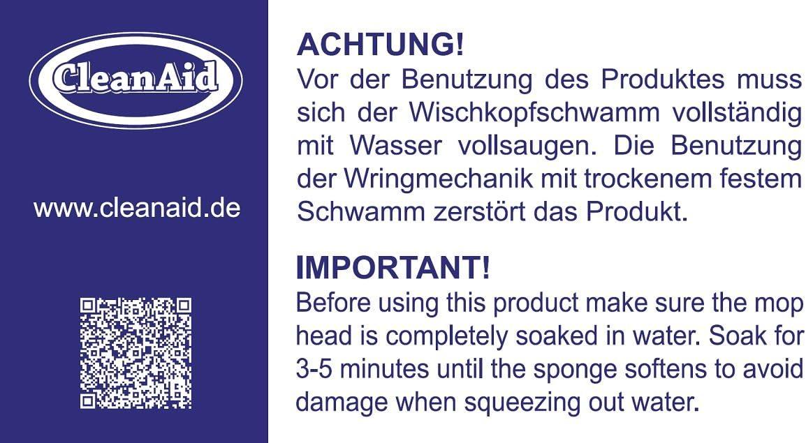 CleanAid Recharge /Éponge pour OneTouch Pro Serpilli/ère Eponge PVA Super Absorbante 27 cm