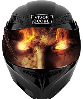 V40 Devil Demon VISOR TINT DECAL Graphic Sticker Helmet Fits: Icon Shoei Bell HJC Oneal