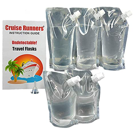 Amazon.com: Crucero Runners Cruise Ship Kit Flask 5 Pack ...