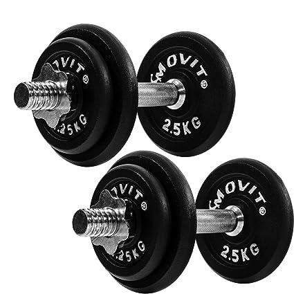 MOVIT - Juego de 2 mancuernas con pesas (de 20 kg, 30 kg, 40 kg ...