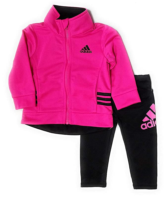 4739655430 Amazon.com: adidas Baby Girls' 2 Piece Tricot Track Set, Neon Pink ...