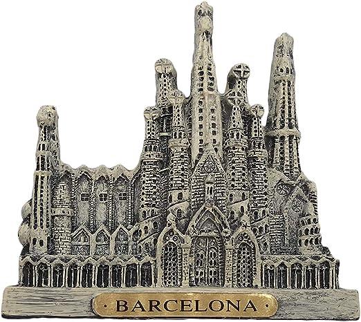 Imán de nevera de la Sagrada Familia en Barcelona (España) de resina en 3D, recuerdo de viaje para decorar la cocina y el hogar: Amazon.es: Hogar