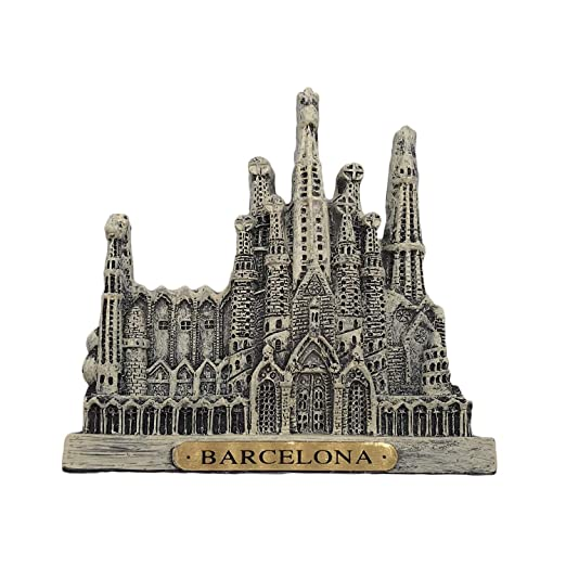Imán de nevera de la Sagrada Familia en Barcelona (España) de ...