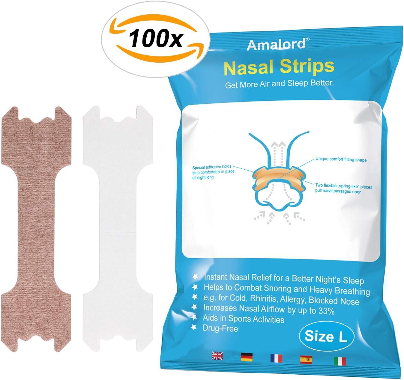 100 Piezas De Tiras Nasales Antirronquidos Ayudan A La Respiraci/ón A Detener El Ronquido para Un Sue/ño Saludable Las Tiras Nasales