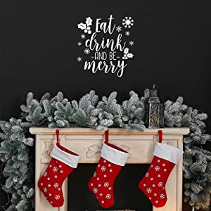 Vinyl Wall Art Decal - Eat Drink and Be Merry - 18.5